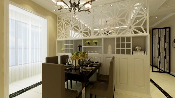 永恒理想世界简欧设计案例-君子兰装饰 餐厅造型