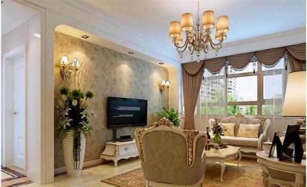 创意电视背景在电视背景墙上,浅色的大理石墙面配以一些装饰品,让整个空间畅快明亮。彰显出了业主对高品质生活的追求。