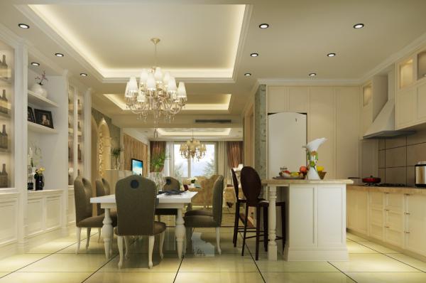 生活家装饰--徜徉集130平米欧式新古典风格餐厅装修效果图