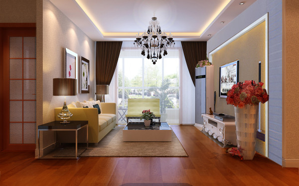 客厅的主色调为黑、白、灰。简洁明亮的色调,进入其中映入眼帘的颜色使人身心舒缓整体软装使用棕色米色调,大气中不拘小节,将温馨表现的恰到好处。