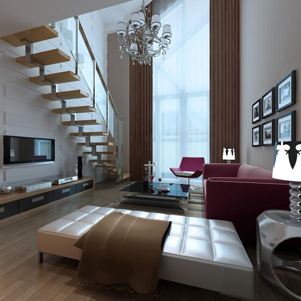 生活家装饰--金色漫香林小区130平米现代风格客厅装修效果图