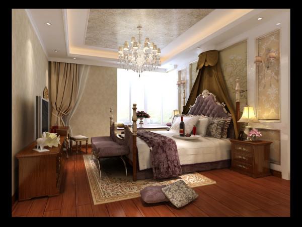 生活家装饰--华侨城小区159平米简欧风格卧室装修效果图
