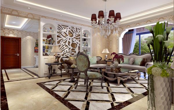 如意花园简欧设计-君子兰装饰 客厅效果