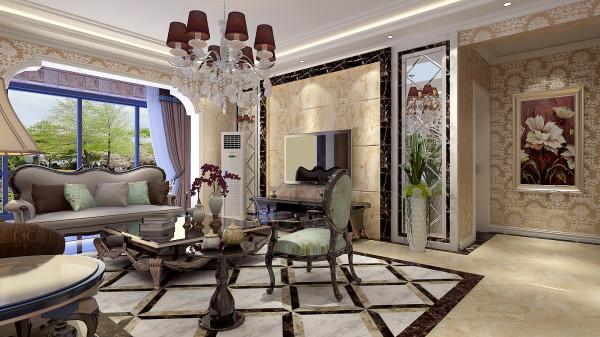如意花园简欧设计-君子兰装饰 客厅造型