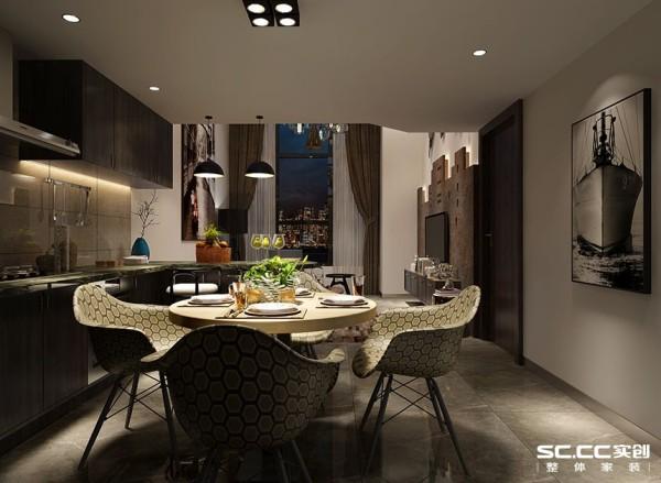 餐厅是家居生活的心脏,不仅要美观,更重要的实用性,整体性。亮点:餐厅的灯光很重要既不能太强又不能太弱,灯光则以温馨和暖的黄色为基调,顶部做了简单的吊顶。