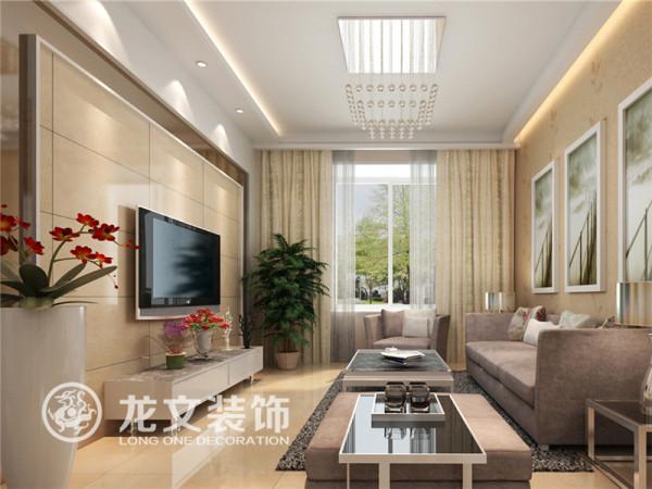 客厅与阳台合二为一,使空间有延伸感和层次感