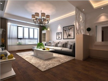 世纪新苑91.9平米现代简约风格