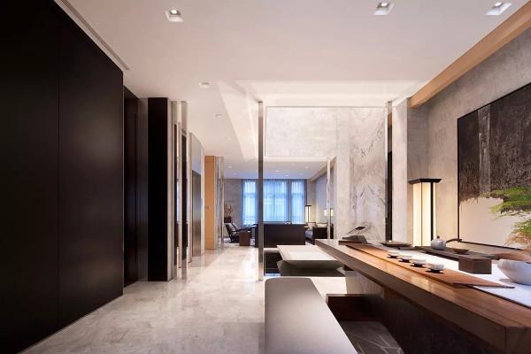 禅意中式极简厨房装修效果图片