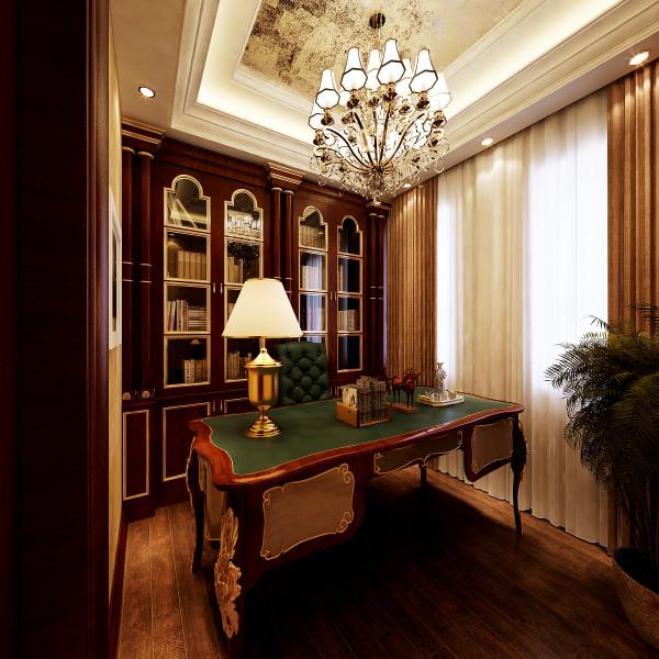 生活家装饰--金地仰山小区135平米欧式新奢华风格书房装修效果图