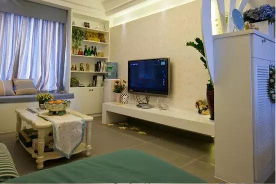 地中海風格 老房翻新 舊房改造 客廳圖片來自小戶型裝修案例在溫馨地