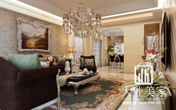 郑州大业美家-汉飞金沙-客厅沙发背景墙