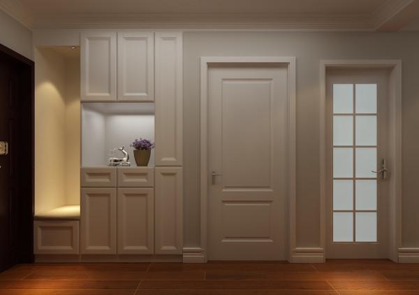 简单实用的鞋帽柜,一朵小花为整个空间增彩