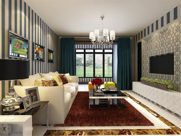 简单的石膏板吊顶,电视背景墙,既经济又美观,客厅设计时要注意对室内动线的合理布置,交通设计要流畅,对原有不合理的建筑布局进行适当调整,使之更符合空间尺寸要求。
