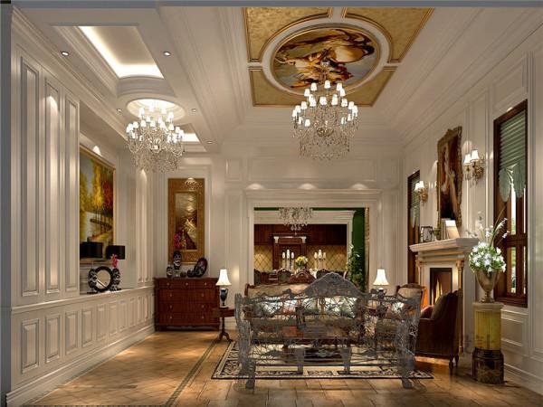 客厅作为待客区域,一般要求简洁明快,同时装修较其它空间要更明快光鲜,通常使用大量的石材和木饰面装饰,喜爱艺术品,在装修上偏爱仿古墙地砖、石材和各种仿旧工艺的追求上。
