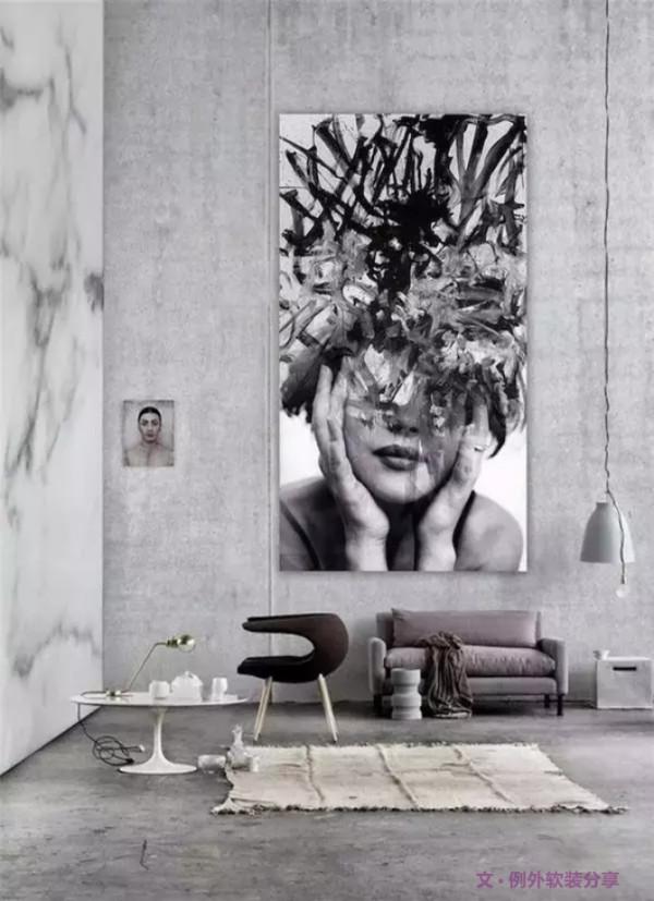 这种用水泥做的墙面,极新潮、个性。而且低彩度自然感十足的混凝土质感,在家居搭配方面,不挑剔。