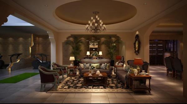 """地下休闲厅:在休闲放松的基础上,空间独有的""""乱花渐欲迷人眼""""的色彩魅力,让人倍感愉悦。"""