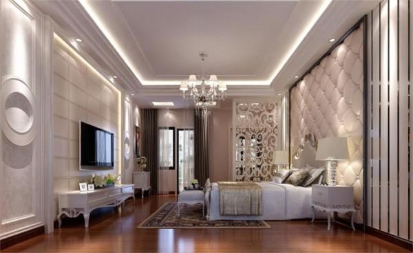 卧室,主人房,简洁而不失奢华,