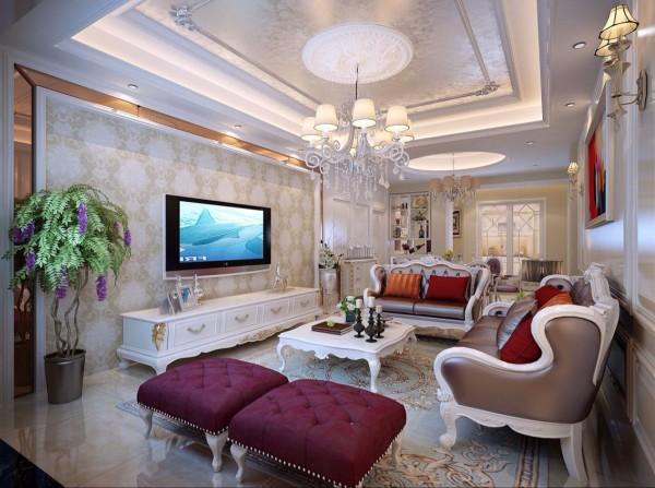 客厅:原结构单一功能的客厅布局,现在调整为客厅和餐厅形成共享的空间。不管是采光还是相互交流都较为方便合理,让原本单一的区域显得丰富。通过电视背景墙以及沙发背景墙装饰让空间显得格外精致。