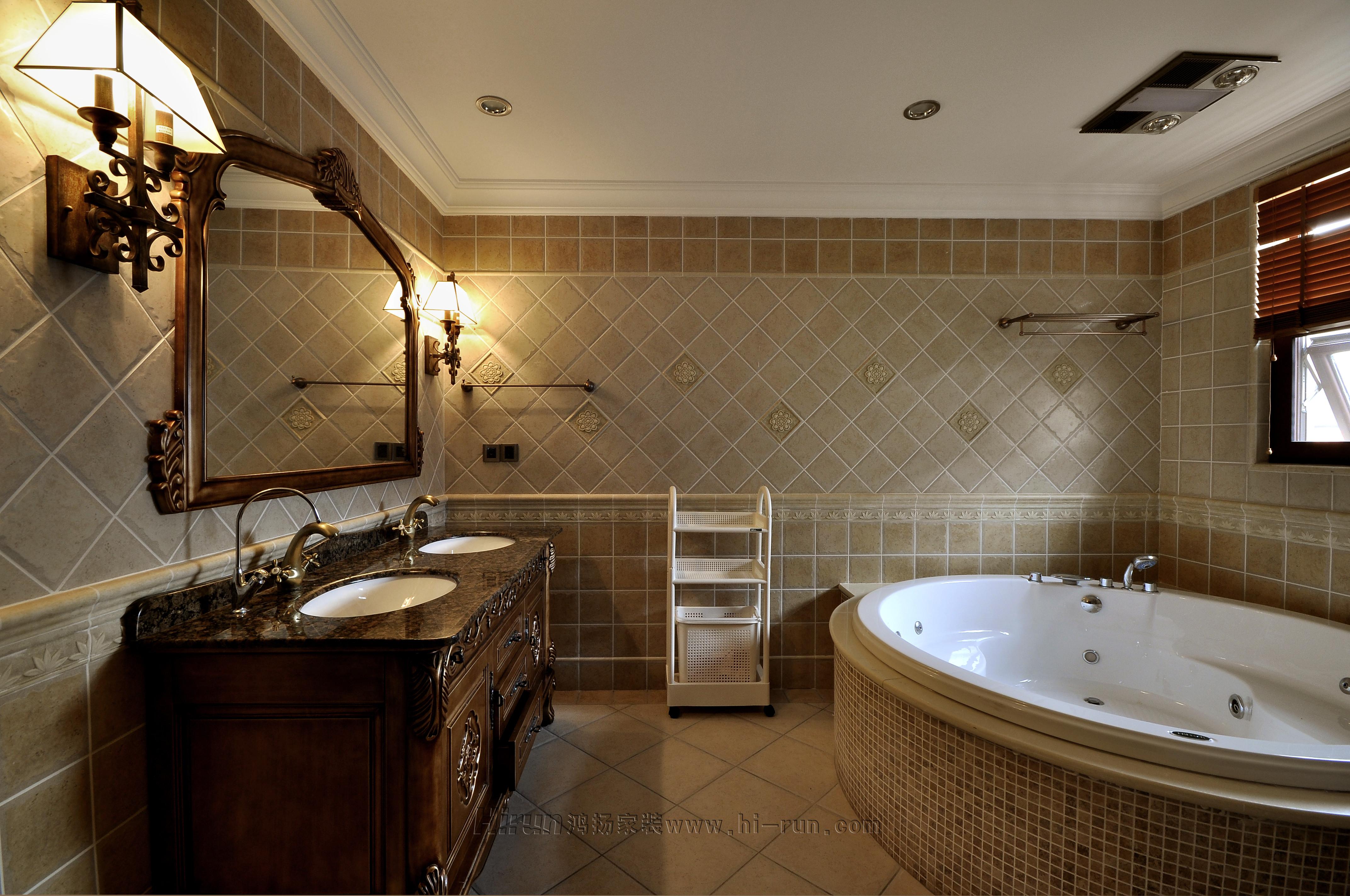 美式别墅卫生间装修效果图片_装修美图-新浪装修家居