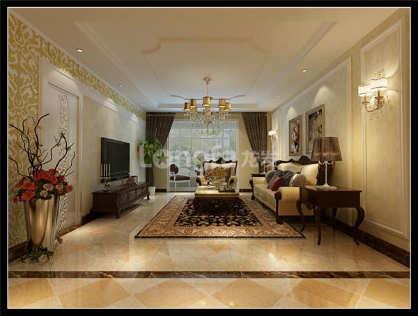 中式风格中的设计内容中增添了一个现代风格的客厅,在与中式风格相协调的同时又不会使设计整体太过于沉闷,起到了很重要的作用