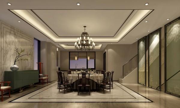 餐厅:点线面之间演绎精彩绝伦的简约之美,让餐厅既儒气雅韵,又典雅清新,营造出中式艺术和谐的家居环境。