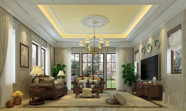 客厅作为待客区域,较其它空间要更明快光鲜,通常使用大量的石材和木饰面装饰。营造出一种怀旧、浪漫的感觉。
