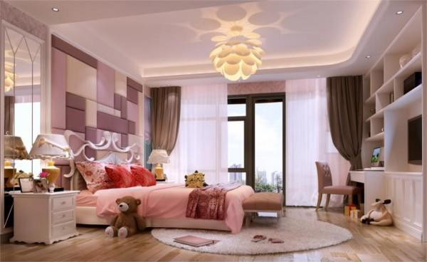 卧室,粉色的少女心,