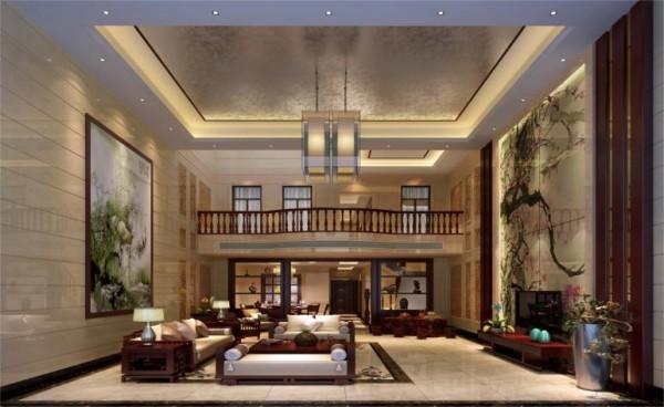 客厅,用一部分的家具展示中式的风格和特点,保留中式的优雅气息