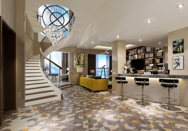 """别墅设计 新中式 书房图片来自别墅装修设计--hy在境善静美,禅意的""""图片"""