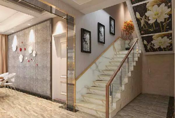 别墅设计装修风格美式楼梯装修效果图片_装修美图-网图片