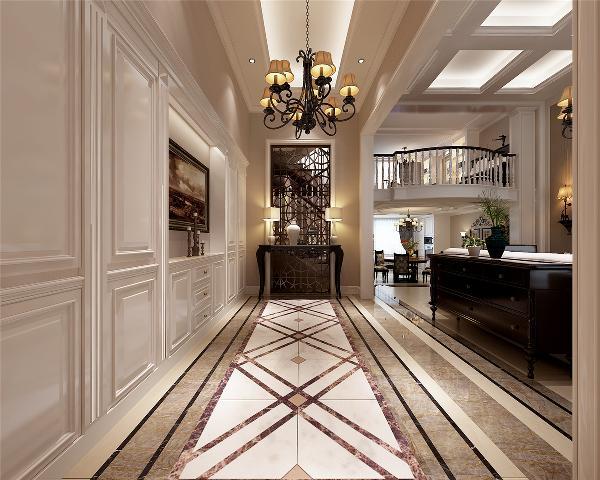 奥玎宫廷别墅户型装修欧式风格设计方案展示,上海腾龙别墅设计师周峻作品,欢迎品鉴