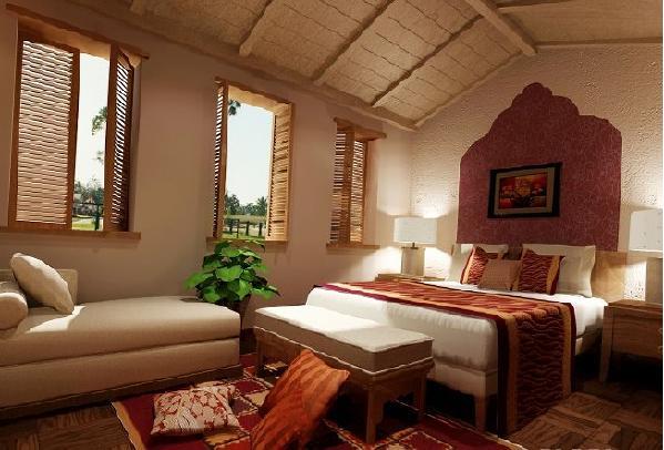 卧室采用很简单的装修,家具也是民族风,东南亚的简约风格是强烈,床头墙上掏空出了窗台阅读区、床头搁架玩出收纳的巧思,充足的光线让人不会有窒息感!