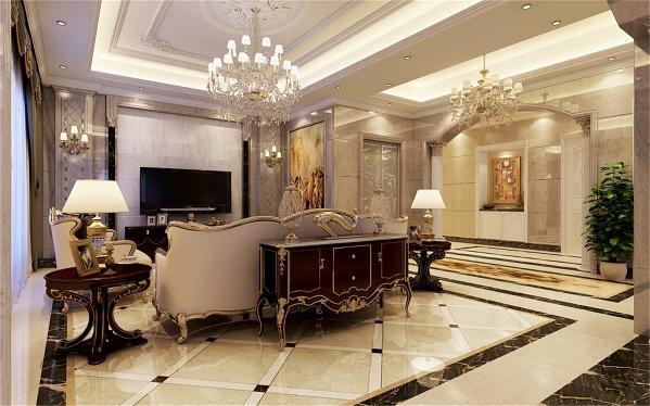 九龙仓别墅户型装修欧美风格完工案例实景展示,上海腾龙别墅设计师周峻作品,欢迎品鉴!
