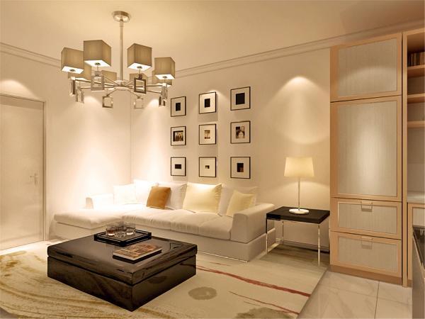 在电视背景墙的装饰上,我们采用了矮墙和文化石装饰背景墙,表现了一种清新气息感,沙发采用布艺洁白造型,加褐色地毯让整个空间出现了亮点。沙发背景墙采用的是装饰挂画使背景墙更富有生气。