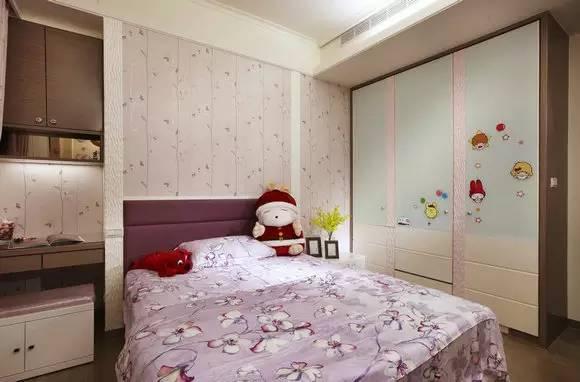 装修TIPS:女孩卧室以粉嫩色彩为主