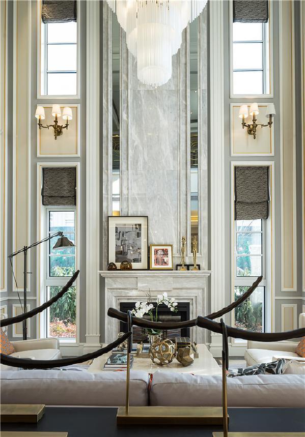 海珀晶华别墅户型装修现代风格设计方案展示,上海腾龙别墅设计师周峻作品,欢迎品鉴!