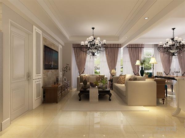 欧式客厅非常需要用家具和软装饰来营造整体效果,色彩鲜艳的布艺沙发,是欧式客厅里的主角。还有窗帘,精美的油画,制作精良的雕塑工艺品,都是点染欧式风格不可缺少的元素。