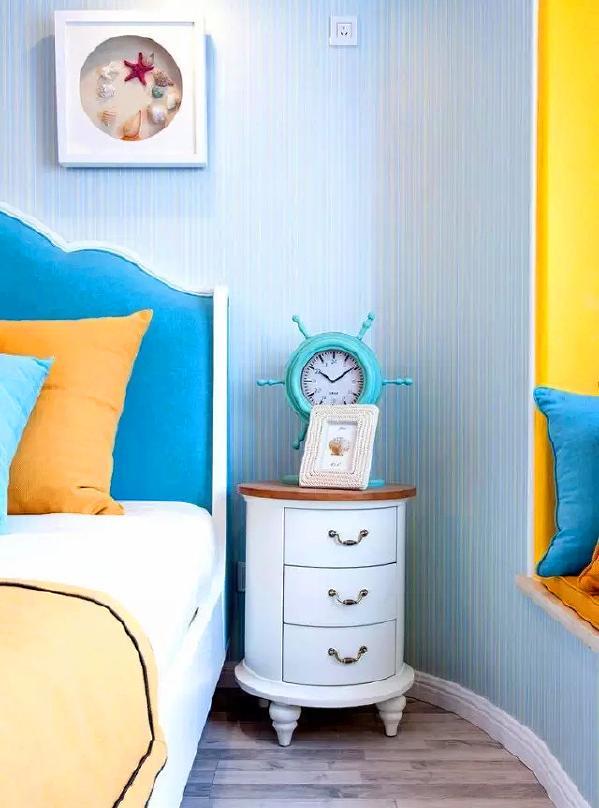 ▲ 卧室墙角都采用圆角处理
