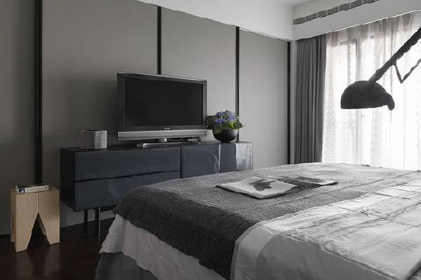 欧式简约现代黑白三居卧室