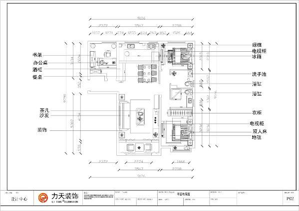 以入户门为中线两边对称,客厅空间十分宽阔,餐桌与厨房划分开,中间采用采光通透的玻璃门,就餐空间也比较开阔。卧室安置在整个户型的最里边,主卧与次卧是对齐安置,门与门相对这样采光与通风效果都很嘉。