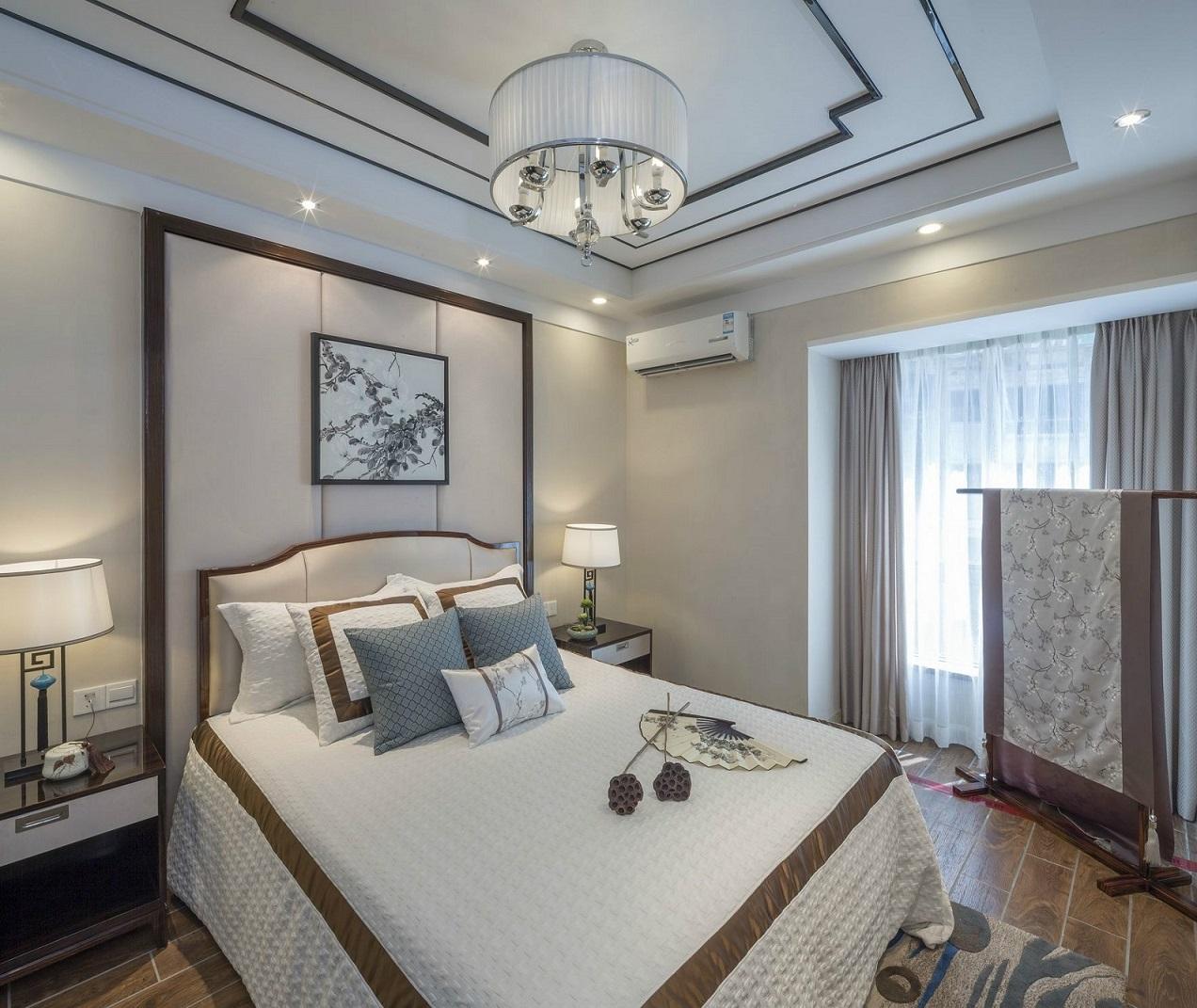 中式精装房卧室装修效果图片_装修美图-新浪家居