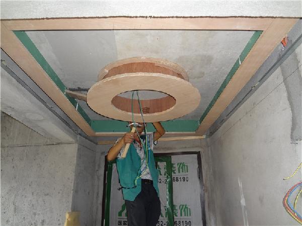 木工阶段,天花吊顶造型施工
