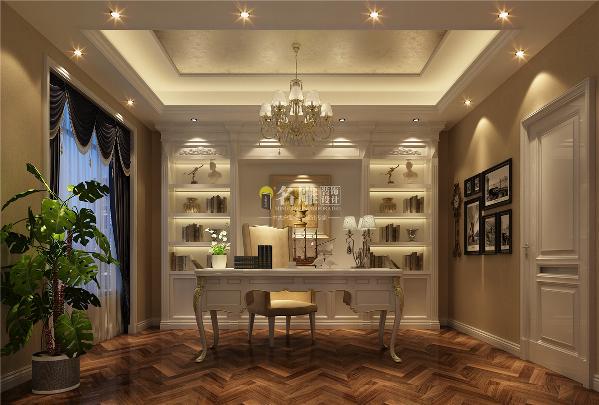 书房装修:精致而富有书香气息的书房,完美诠释了书房的雅与序。