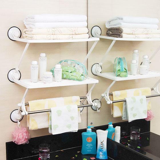 将传统的收纳方法和自己的DIY有效的结合起来,奇思妙想的将原本摆放杂志的置物架用来摆放毛巾,简洁有序。其实生活中的许多东西,只要细心发现,都能将它用到实处。