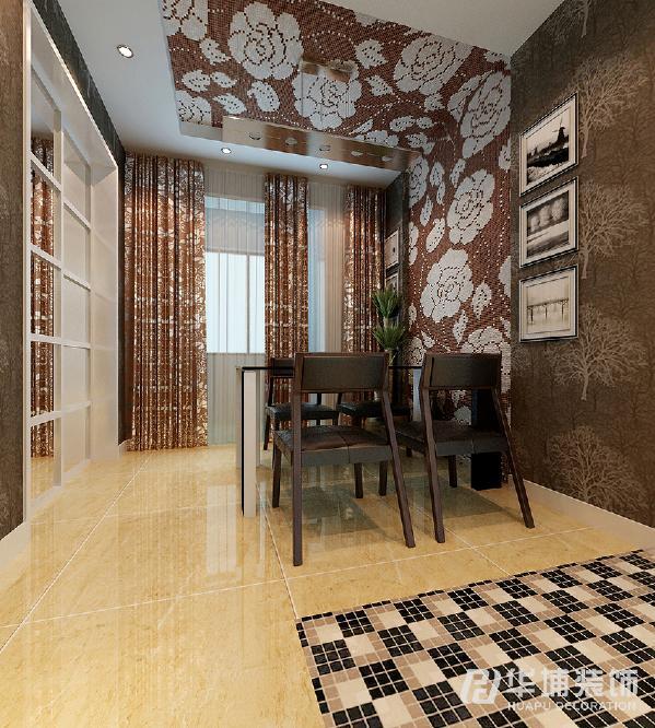 拼花马赛克上墙、上顶和窗帘客厅的电视柜进行对应,时尚简约大气,体现出主人的品味和价值观。