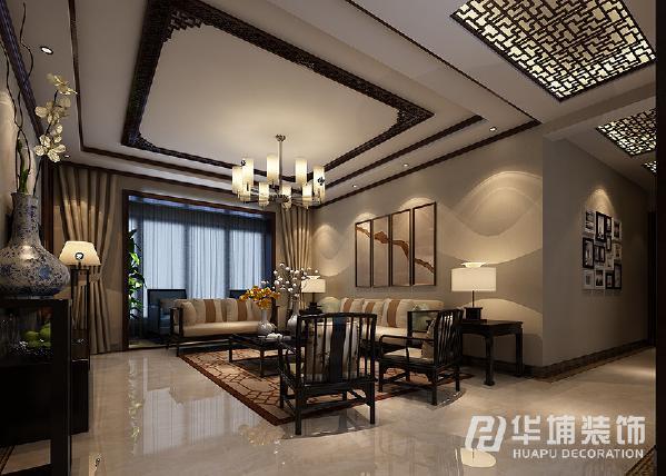 大量运用中式的雕花格子,镜子衬底,色调是以黑胡桃色为底色简单大气,一套中式家具突出格调之韵味