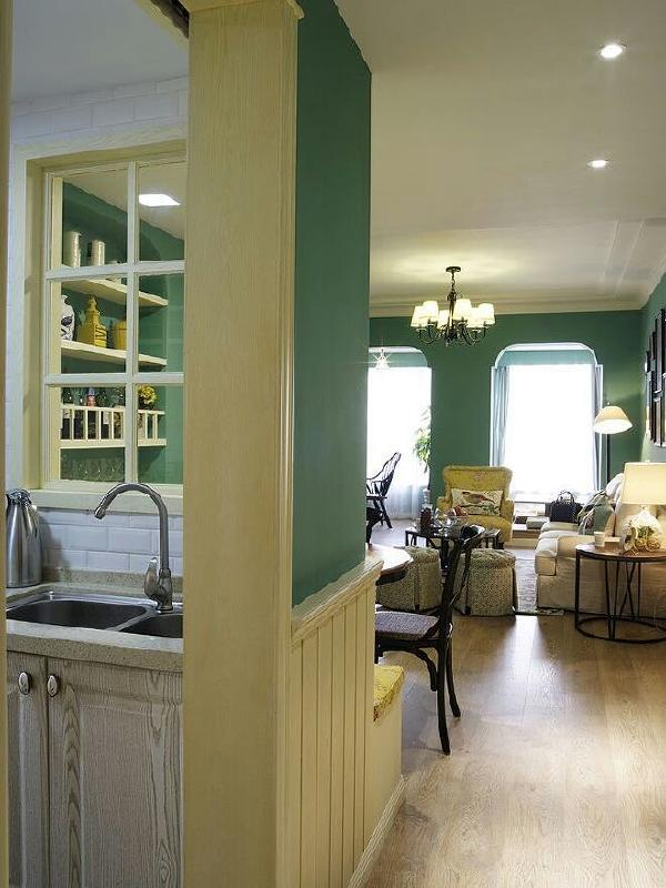 打通阳台与客厅,统一书房门洞与休闲区,门洞风格,无限放大空间视觉与通透感自由度