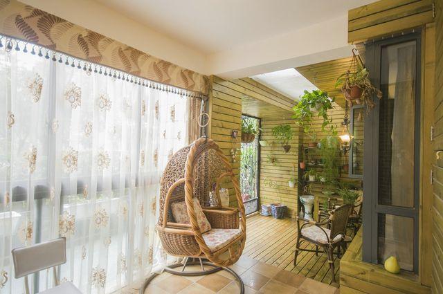 阳台 田园风格 设计 绿色 打造图片来自用户5910971424在田园风格阳台