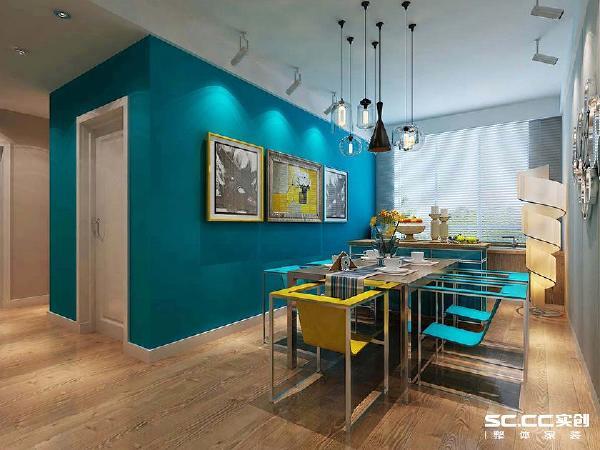 设计 理念 荧光蓝的加入,让空间瞬间出彩