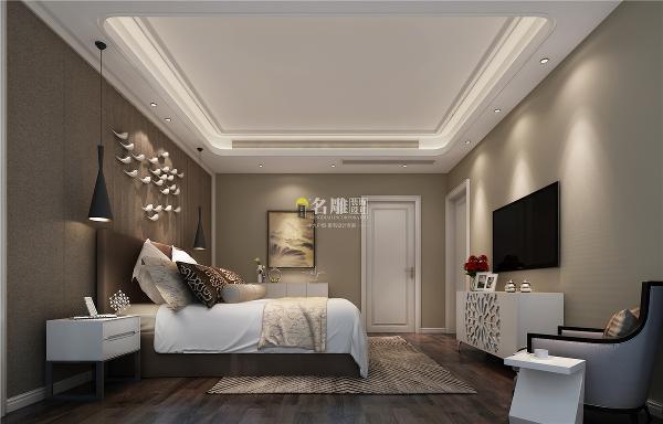 水湾1979四居室现代风格装修设计卧室装修效果图